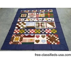 Hand-Made Quilt 5'W x 6'L