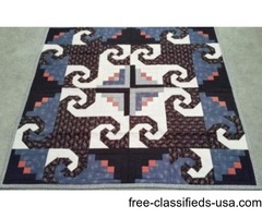 "Hand-Made Quilt 53""W x 53""L"