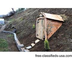 Hobbit House Stroage sheds