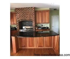 Solid Natural Cherry Cabinets and Granite
