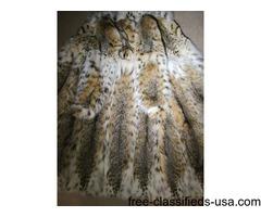 LYNX Fur Coat Full Length EXCELLENT M-L