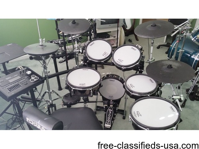 Roland Td 30k Electronic Drum Set Upgraded Musical