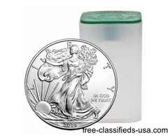 Tube of 20 2015 Pure Silver Dollar Coins