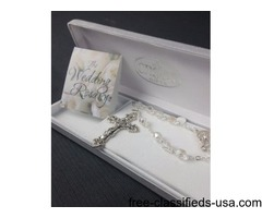 Brand New White Rosary