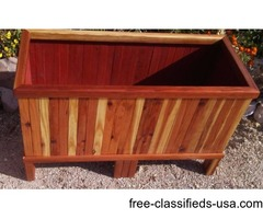 "Redwood planter 27""×10""×8"""