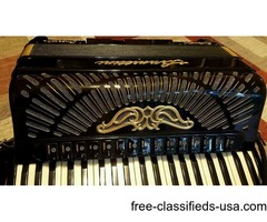 Professional Serenellini Imperator Oro Gold Double Tone chamber Accordion Italy