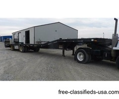 2002 53ft Equipment Trailer w/ Flip Ramps