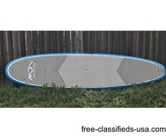"""Paddle Fit and Yoga TUNA Paddleboard 10' x 32"""" x 4.25"""" with Full Deck Pad"""