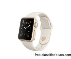 Apple Watch Sport 38mm Gold Aluminum Case with Sport Band - Antique White