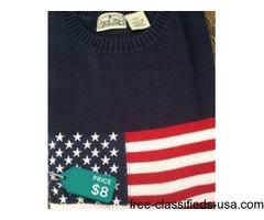 Men's flag sweater 3 x brand new