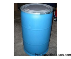 55 GALLON FOOD GRADE PLASTIC BARRELS WITH REMOVABLE LIDS