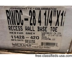 "JOHNSONITE RECESS WALL BASE TOE RWDC-28 4.25""X120'"