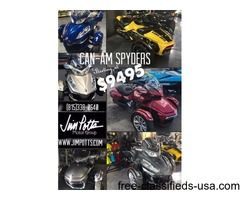 CLEARANCE! Can-Am Spyders BEST PRICE GUARANTEED