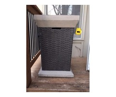 Propane space heater for patio or deck