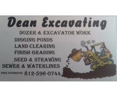 dozer and excavator work