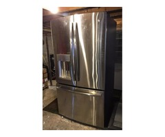 GE 27.7 Cu ft Stainless Steel Fridge - $1200