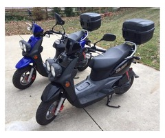 Two identical 50cc scooters