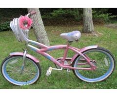 Girl's Bike Peppermint Swirl Kent Cad Design-Christopher Metcalfe Creations