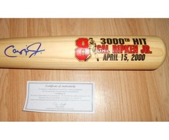 Hand Signed Cal Ripkin Jr. 3000th. Hit Bat