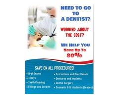Save up to 80% on Dental Costs!