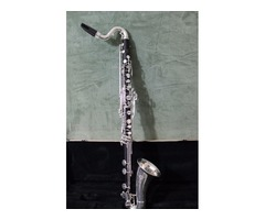 SELMER PARIS WOOD BASS CLARINET P SERIES W SELMER C MOUTHPIECE AND CARRY CASE