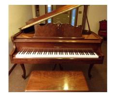 Hallet & Davis Baby Grand Piano
