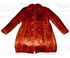 Brand New Ladies (Women's) Fashion Genuine Leather Coat Size (L) Large