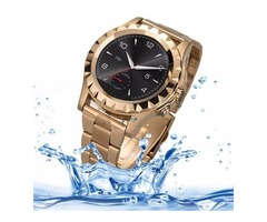 Gold NO.1 SUN S2 1.22 inch IPS Display Screen Bluetooth 3.0 Smart Watch
