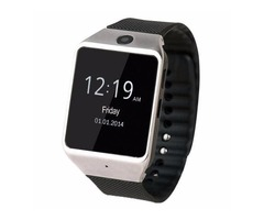 Silver ZF12 1.54 Inch Wearable Bluetooth Smartwatch with Infrared Sensors