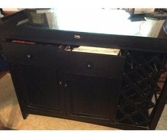 High Table & 4 High Chairs drawer