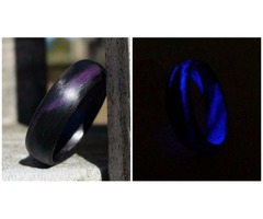 Carbon Fiber Marbled Glow Ring-Purple