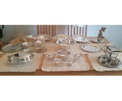 Silver Plate. Serving bowls & Trays
