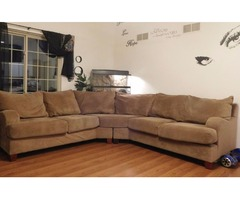Klaussner Microsuede Sectional Large Comfortable!