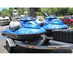Set of Two 2007 Sea-Doo GTX Limited Personal Watercraft with Trailer