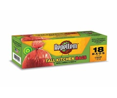 REPELLEM Tall Kitchen 13 Gallon Trash Bags 6-pack!