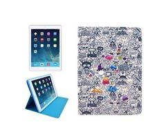 For iPad Mini 1/2/3 Cartoon Pattern Protective PU Smart Cover Leather Case