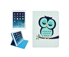For iPad Mini 1/2/3 Owl Pattern Protective PU Smart Cover Leather Case