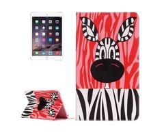 For IPad Mimi 4 Zebra Pattern Horizontal Flip Leather Case with Holder