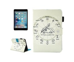 For iPad Mini 4/3/2/1 Zodiac Smart Cover Leather Case with Holder