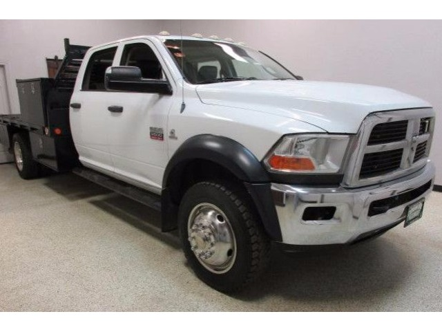 2011 Dodge Ram 5500 4wd 6.7 Diesel Crew Cab Automatic Flatbed Bed