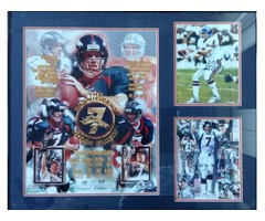 JOHN ELWAY AUTOGRAPHED LIMITED EDITION FRAMED PHOTOS