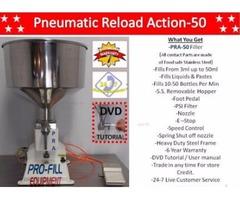 Mini Piston Filler Single Head PRA-50 Fills Liquids, Pastes, Scrubs