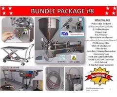 Piston Filler Single Head JET-1000 Bundle #8 Fills Liquids, Pastes, Peanut Butter