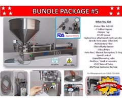 Piston Filler Single Head JET-100 Bundle #5 Fills Liquids, Pastes, Peanut Butter