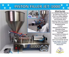Piston Filler Single Head A/O JET-1000 Perfume Non-Flammable Fills Liquids