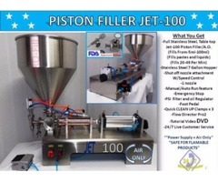 Piston Filler Single Head A/O JET-100 Perfume Non-Flammable Fills Liquids