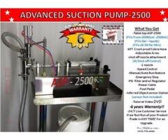 Piston Filler Single Head Advanced Suction Pump-2500 Fills Liquids, Gels, Oils