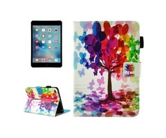 For iPad Mini 4/3/2/1 Tree Smart Cover Leather Case with Holder