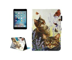 For iPad Mini 4/3/2/1 Cats Smart Cover Leather Case with Holder