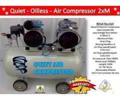 Air Compressor 2xM Quiet Oil Less-Tank Volume: 50L-Low